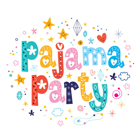 night party: pajama party Stock Photo