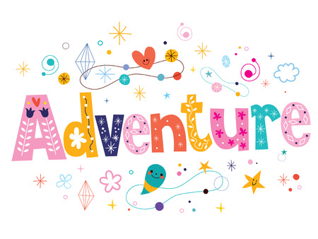 word: word adventure decorative type lettering text design