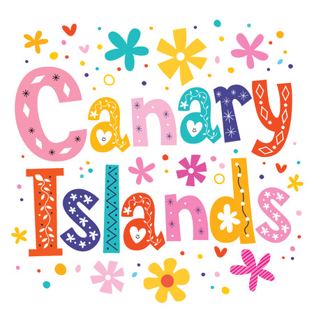 Canary Islands vector lettering decorative type