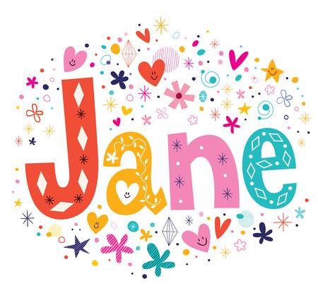 jane: Jane - girls name design