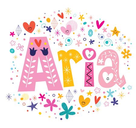 aria: Aria - female given name