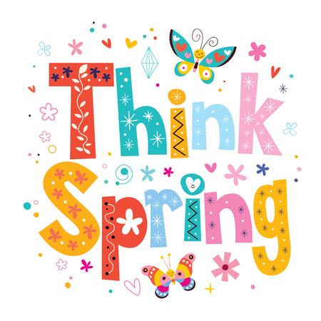 love words: think spring Illustration