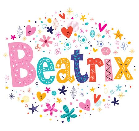 beatrix: Beatrix girls name decorative lettering type design