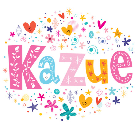 feminine: Kazue - a feminine Japanese given name