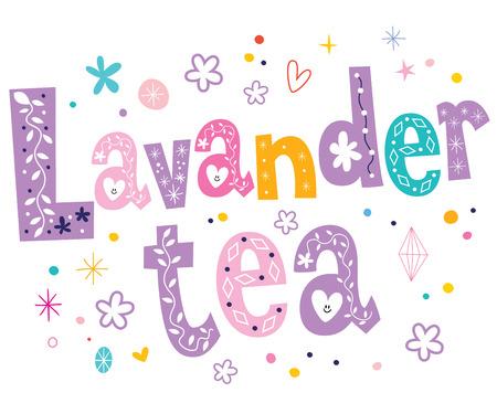 lavender bushes: lavender tea Illustration