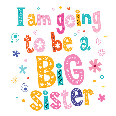 t shirt isolated: I am going to be a Big sister