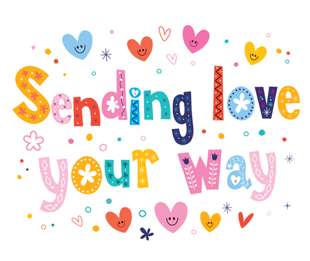 in a way: Sending love your way Illustration