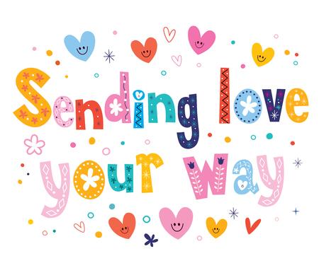 sending: Sending love your way Illustration