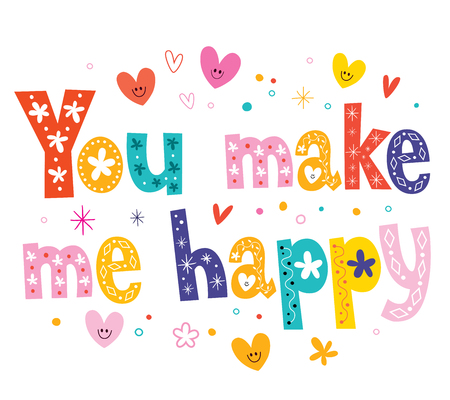 word love: You make me happy Illustration