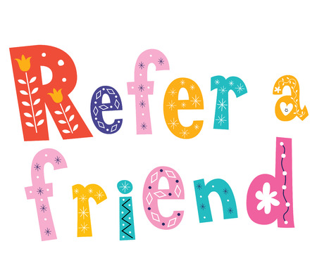 Refer a friend 일러스트