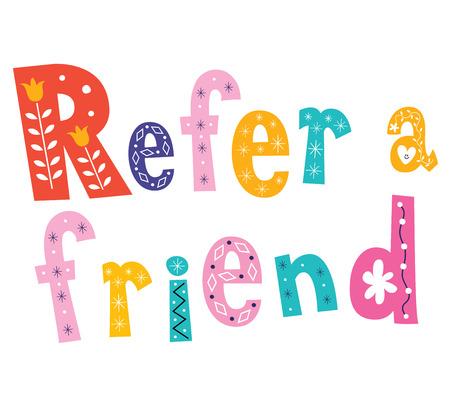 refer: Refer a friend Illustration