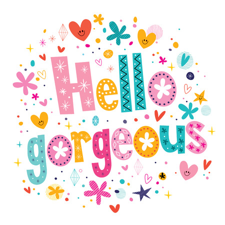 hello heart: Hello gorgeous decorative lettering type design