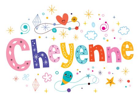 cheyenne: Cheyenne decorative type lettering text design