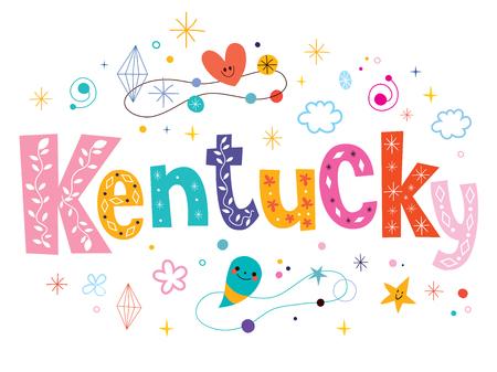 Kentucky decorative type lettering text design