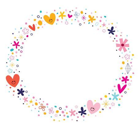 fleurs et coeurs cadre