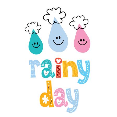 day: rainy day Illustration