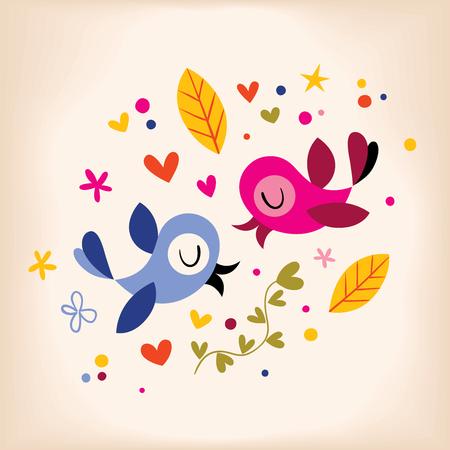 parejas de amor: aves en el amor