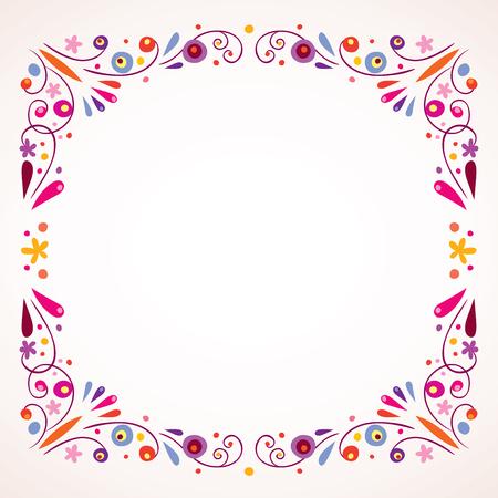 Floral frontière cadre Banque d'images - 57142292