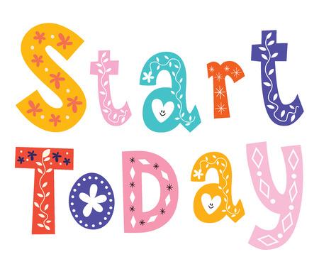 beginnings: Start today Illustration