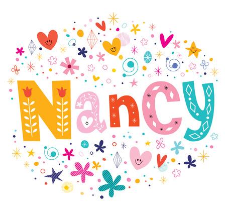 Nancy girls name decorative lettering type design