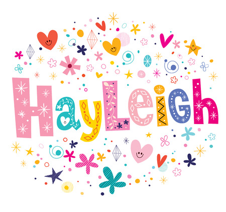 heather: Hayleigh girls name decorative lettering type design