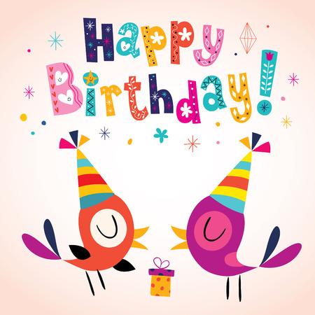 Tarjeta de felicitación del feliz cumpleaños Foto de archivo - 56575518