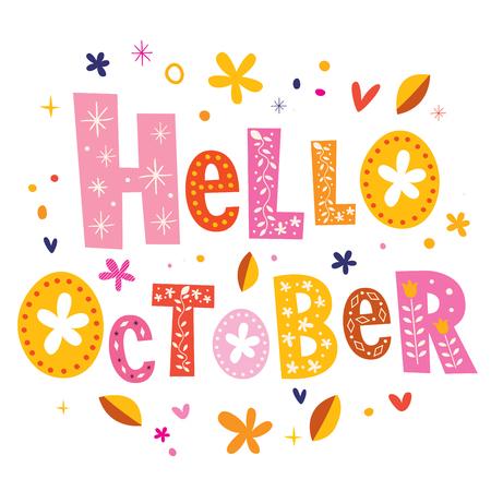 Bonjour octobre Banque d'images - 56575615