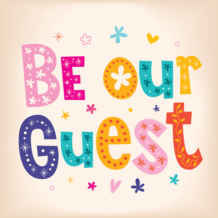 Be our guest 向量圖像