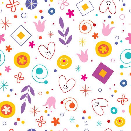 alegria: felicidad del amor de la naturaleza patrón divertido de la historieta