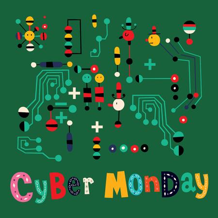 circuit sale: Cyber Monday Illustration