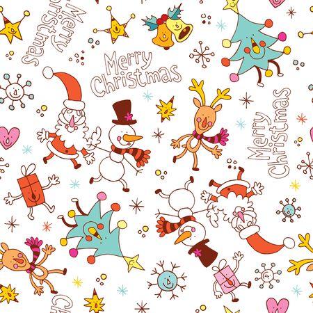 christmas seamless pattern: Merry Christmas seamless pattern