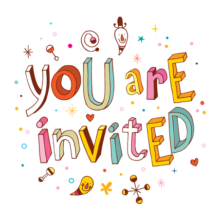 invited: You are invited Illustration
