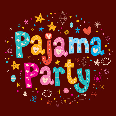 socializing: pajama party Illustration
