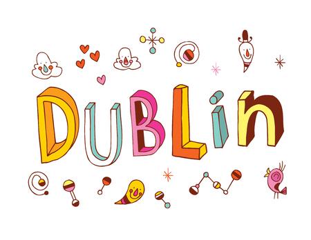 type lettering: Dublin