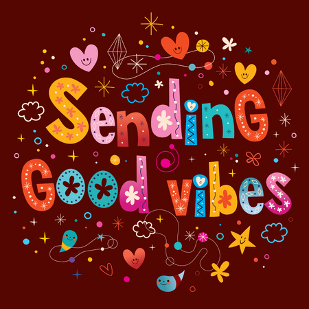 open minded: Sending good vibes