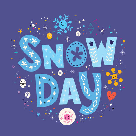 snow day: snow day Illustration