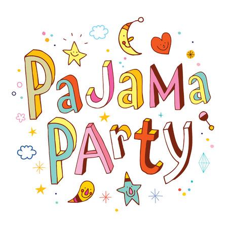 pajama party Stock Illustratie