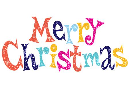salutation: Merry Christmas lettering