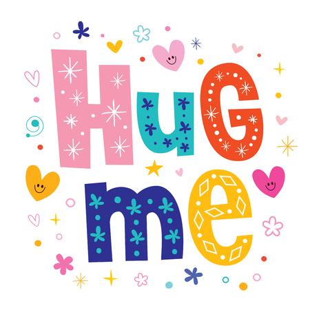 浪漫: 擁抱我 向量圖像