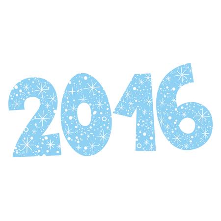 sixteen: 2016 - two thousand sixteen Illustration