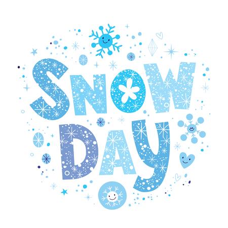 jour de neige Vecteurs