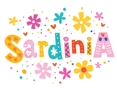 sardinia: Sardinia vector lettering decorative type