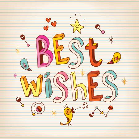 salutations: Best Wishes lettering design greeting card