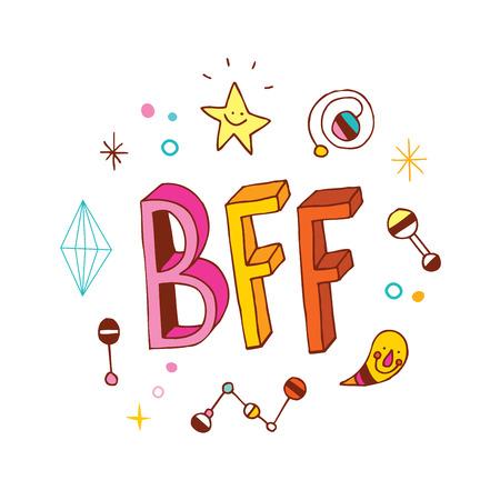 bff: BFF - Best Friends Forever Illustration