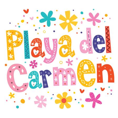 playa: Playa del Carmen vector lettering decorative type Illustration