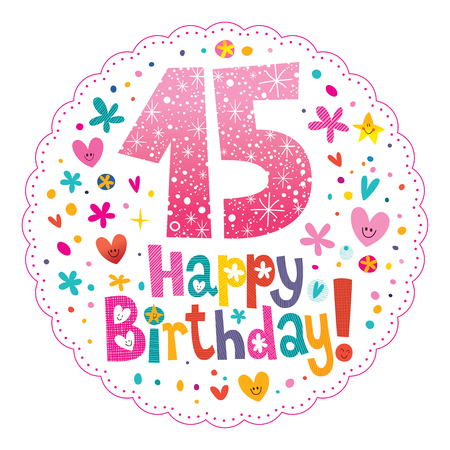 Feliz Cumpleanos 15 Anos De Cabritos Tarjeta De Felicitacion