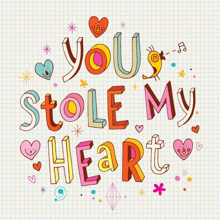 stole: Me robaste el corazon Vectores