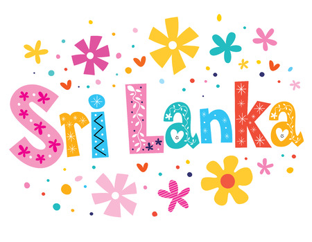 Sri Lanka vector lettering decorative type