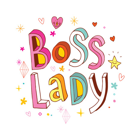 wording: Boss Lady fancy word on white Illustration