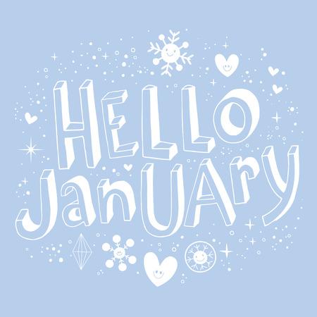 hello: Hello January Illustration